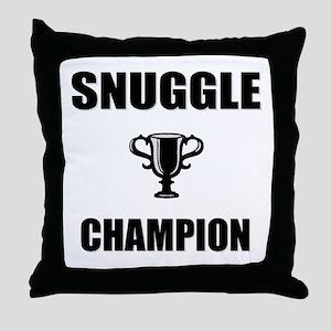 snuggle champ Throw Pillow