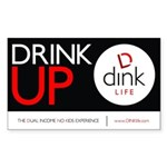 The DINK Commandments Sticker: Drink Up