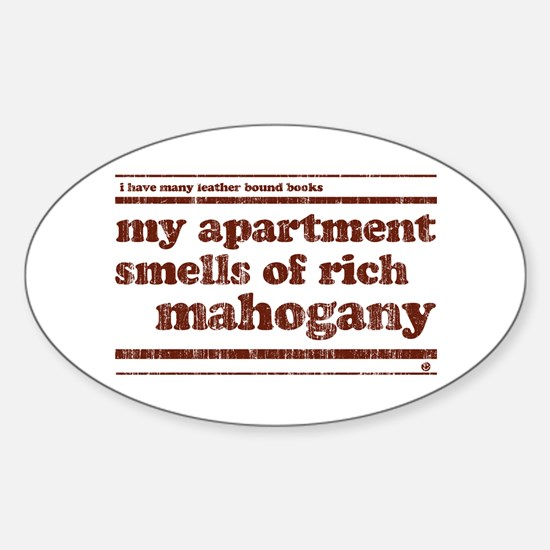 Mahogany Oval Decal