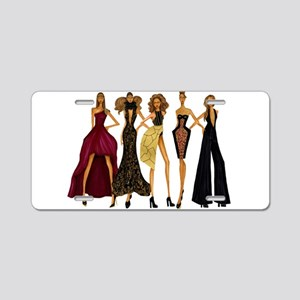 Fashionable Diva Aluminum License Plate