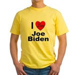 I Love Joe Biden Yellow T-Shirt