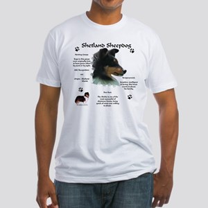 Sheltie 4 Fitted T-Shirt