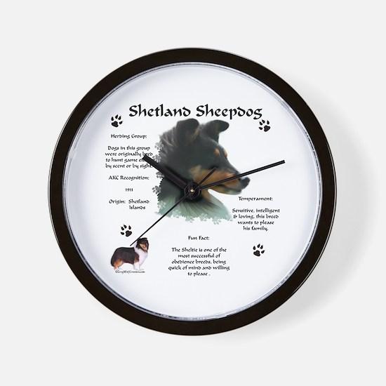 Sheltie 4 Wall Clock