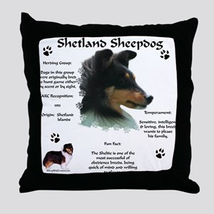 Sheltie 4 Throw Pillow