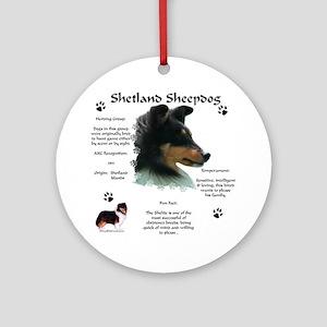 Sheltie 4 Ornament (Round)