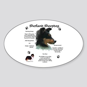Sheltie 4 Oval Sticker