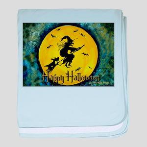 Scottie Witch Broom baby blanket
