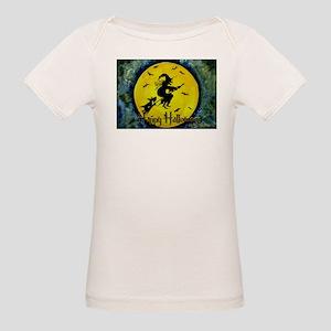 Scottie Witch Broom Organic Baby T-Shirt
