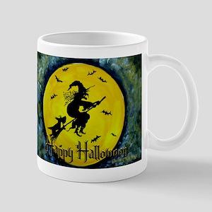 Scottie Witch Broom Mug