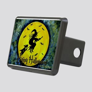 Scottie Witch Broom Rectangular Hitch Cover