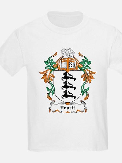 Lovett Coat of Arms Kids T-Shirt