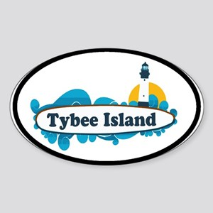 Tybee Island GA - Surf Design. Sticker (Oval)