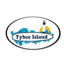 Tybee Island GA - Surf Design. Wall Decal