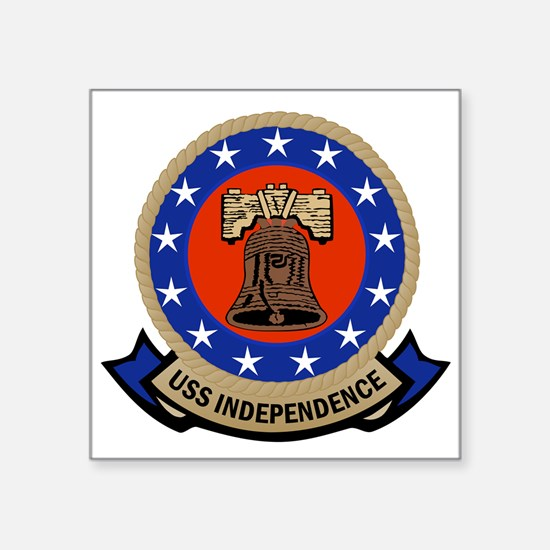 """USS Independence Square Sticker 3"""" x 3"""""""