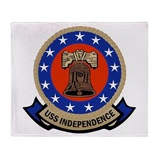 USS Independence Throw Blanket