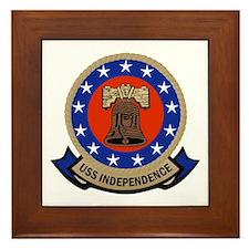 USS Independence Framed Tile