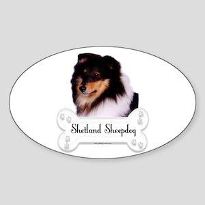 Sheltie 5 Oval Sticker