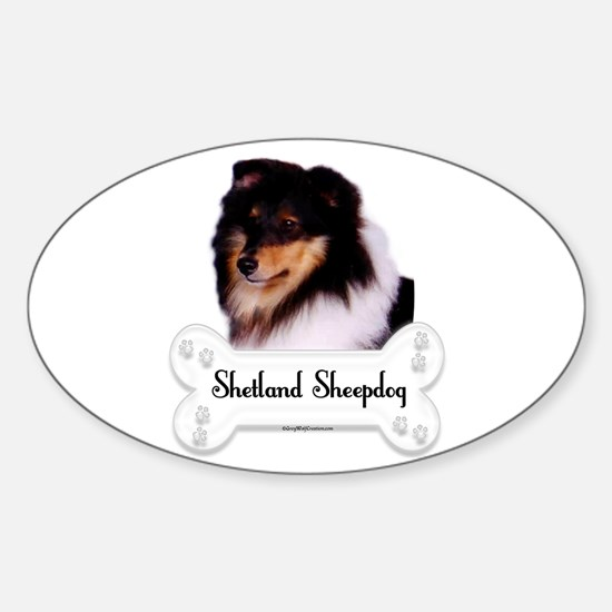 Sheltie 5 Oval Decal