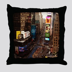 room with a view... TIMES SQUARE Throw Pillow
