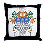 Litton Coat of Arms Throw Pillow