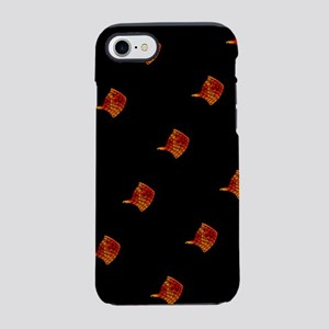 Black Orange Stingray Abstract iPhone 7 Tough Case