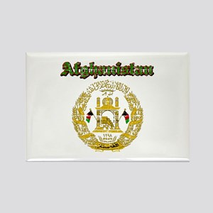 Afghanistan Coat Of Arms Rectangle Magnet