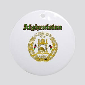 Afghanistan Coat Of Arms Ornament (Round)