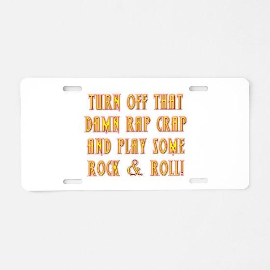 Rock & Roll Aluminum License Plate