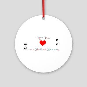 Shetland Love Ornament (Round)