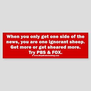 Ignorant Sheep Sticker (Bumper)