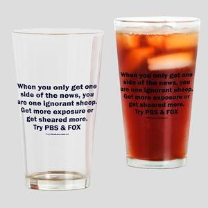 Ignorant Sheep Drinking Glass
