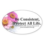 Be Consistent Oval Sticker