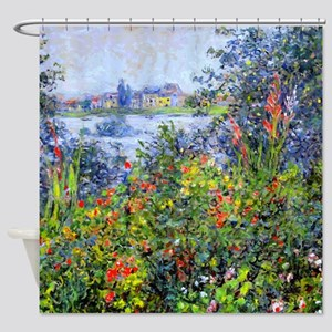 Monet - Flowers at Vetheuil Shower Curtain