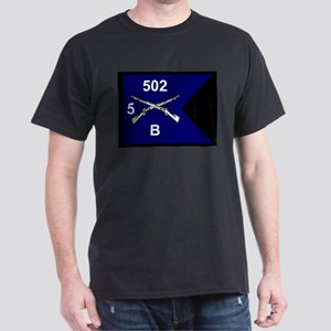 B Co. 5/502nd Black T-Shirt