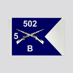 B Co. 5/502nd Rectangle Magnet