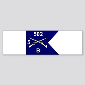 B Co. 5/502nd Bumper Sticker