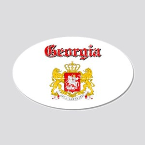 Georgia Coat Of Arms 20x12 Oval Wall Decal