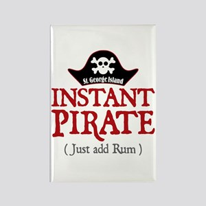 St. George Island Pirate - Rectangle Magnet