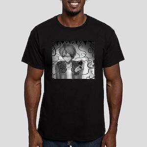 Anime 'Heartless' Men's Fitted T-Shirt (dark)