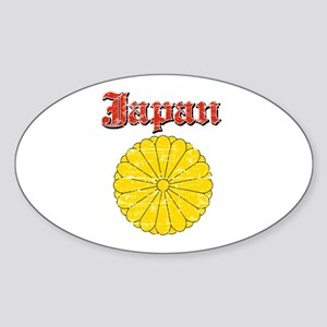 Japan Coat Of Arms Sticker (Oval)