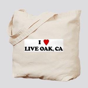 I Love LIVE OAK Tote Bag