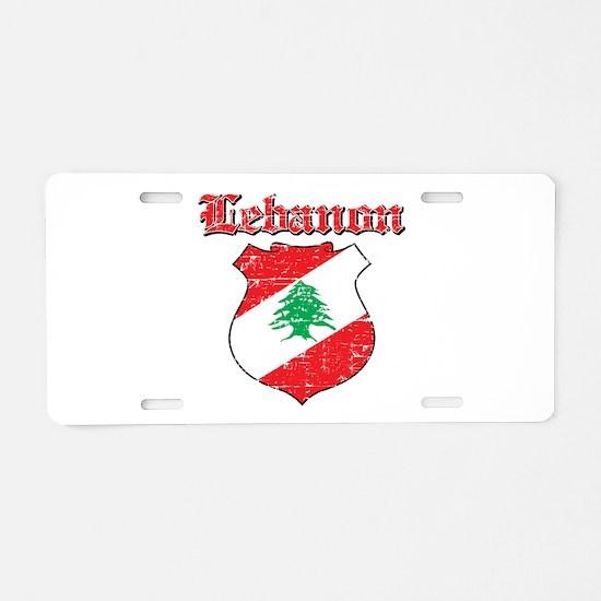 Lebanon Coat Of Arms Aluminum License Plate