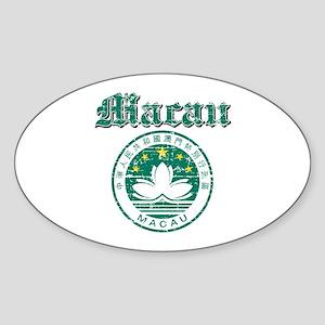 Macau Coat Of Arms Sticker (Oval)