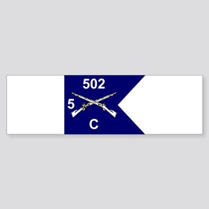 C Co. 5/502nd Bumper Sticker