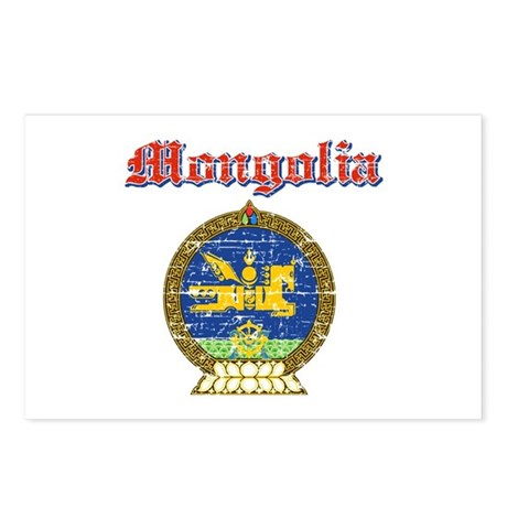 Mongolia Coat Of Arms Postcards (Package of 8)