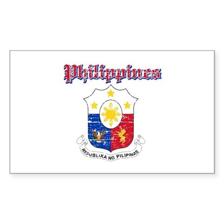 Philippines Coat Of Arms Sticker (Rectangle)