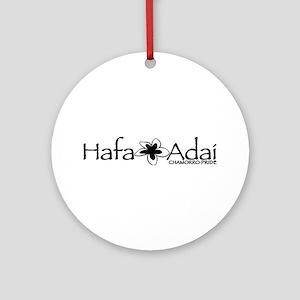 Hafa Adai from Chamorro Pride Ornament (Round)
