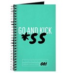Go And Kick A** Blank Journal Notebook