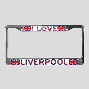 I LOVE LIVERPOOL License Plate Frame