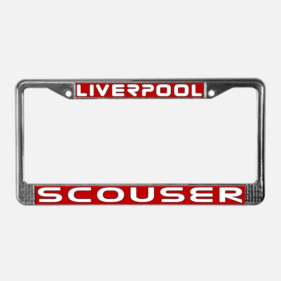 Liverpool Scouser Red Licnse Plate Frame